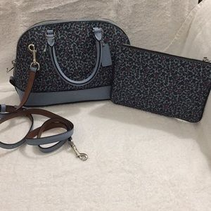 NWT-Small satchel with matching wallet